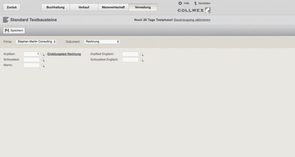 04 Collmex Individuelle Textbausteine Pro Rechnung Online